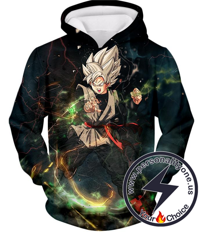 Dragon Ball Super Cool Super Saiyan White Goku Black Amazing Action Hoodie