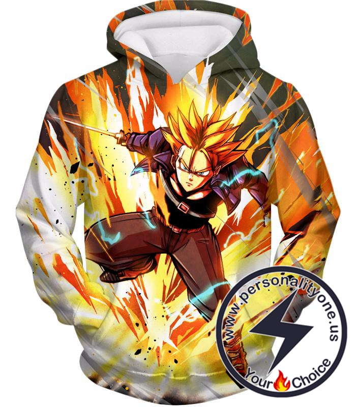 Dragon Ball Super Future Trunks Super Saiyan Awesome Action Anime Hoodie