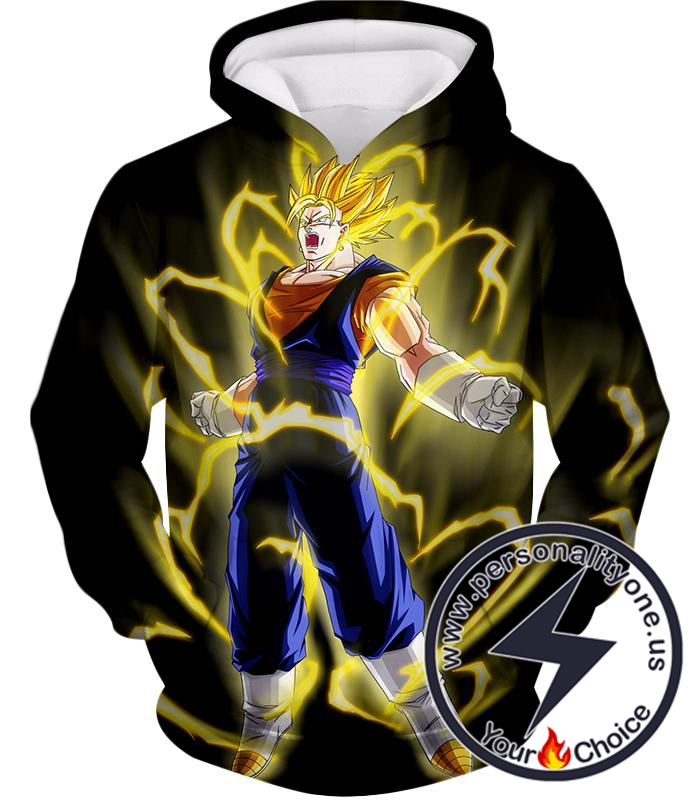 Dragon Ball Super Rising Power Super Saiyan Vegito Cool Black Hoodie
