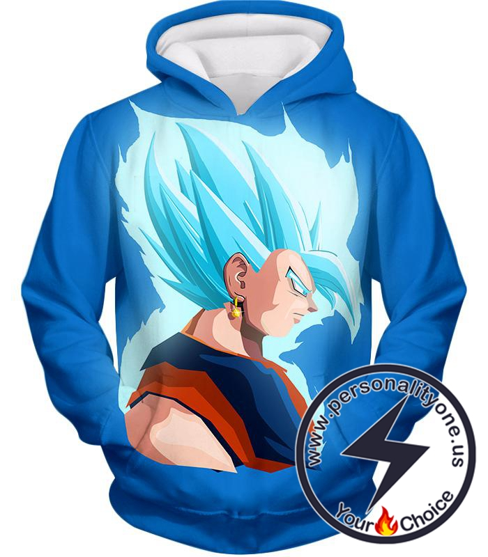 Dragon Ball Super Super Cool Fusion Vegito Super Saiyan Blue Godly Form Promo Blue Hoodie
