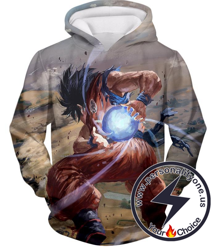 Dragon Ball Super Super Cool Goku Favourite Kame-Hame-Ha Attack Action Graphic Hoodie