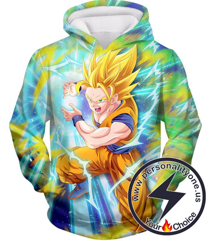 Dragon Ball Super Super Saiyan 2 Goku Ultimate Attack Awesome Action Hoodie