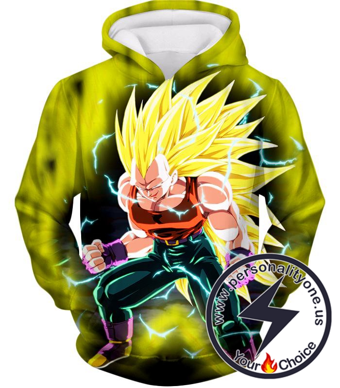 Dragon Ball Super Ultimate Fighter Vegeta Super Saiyan 3 Awesome Anime Hoodie