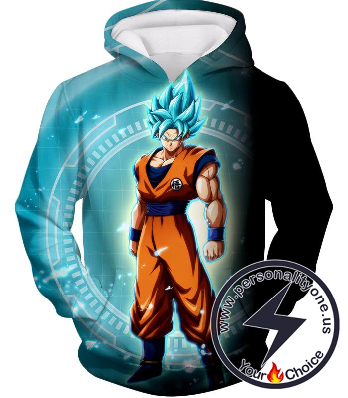 Dragon Ball Super Ultimate Goku Super Saiyan Blue Promo Anime Hoodie