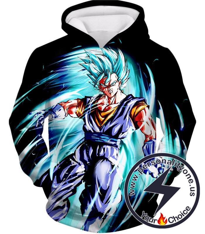 Dragon Ball Super Ultimate Warrior Vegito Super Saiyan Blue Godly Mode Cool Black Hoodie