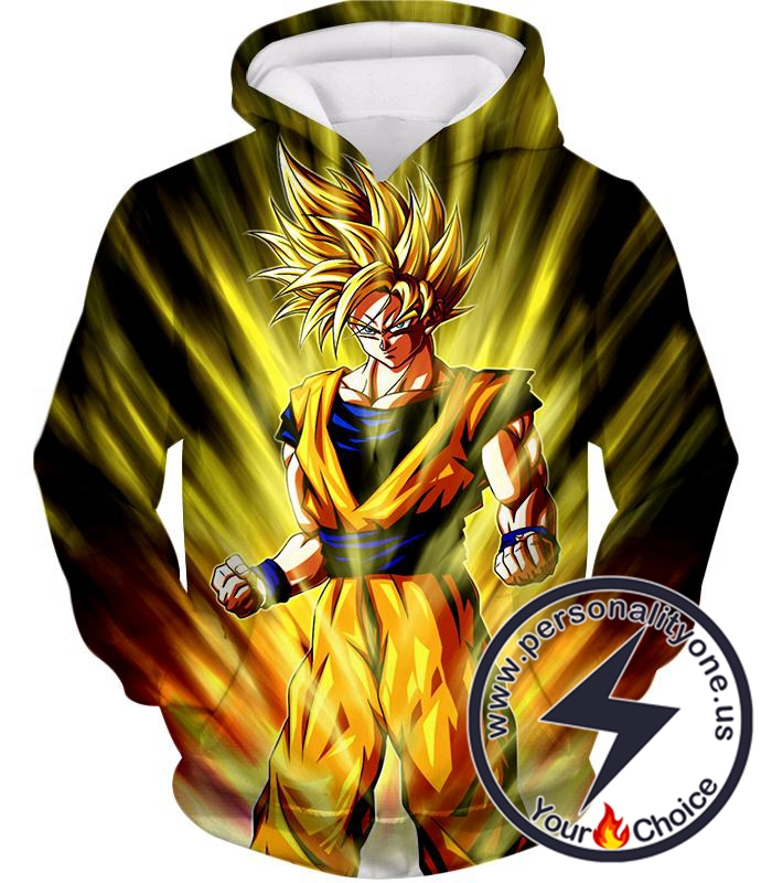 Dragon Ball Super Very Cool Super Saiyan 2 Goku Cool Anime Action Hoodie