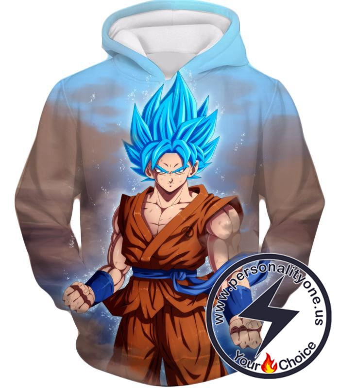 Dragon Ball Z Hoodie - SSJ Blue Super Saiyan Blue Goku