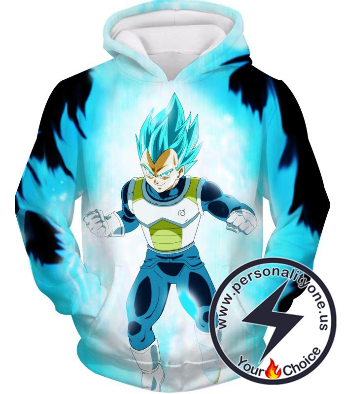 Dragon Ball Z Hoodie - Super Saiyan Blue Vegeta SSB