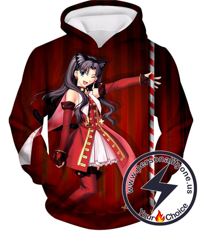 Fate Stay Night Beautiful Rin Tohsaka Dancer Themed Hoodie