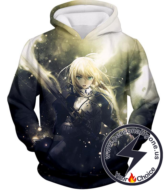 Fate Stay Night Best Fate Series Fighter Saber Arturia Pendragon Hoodie
