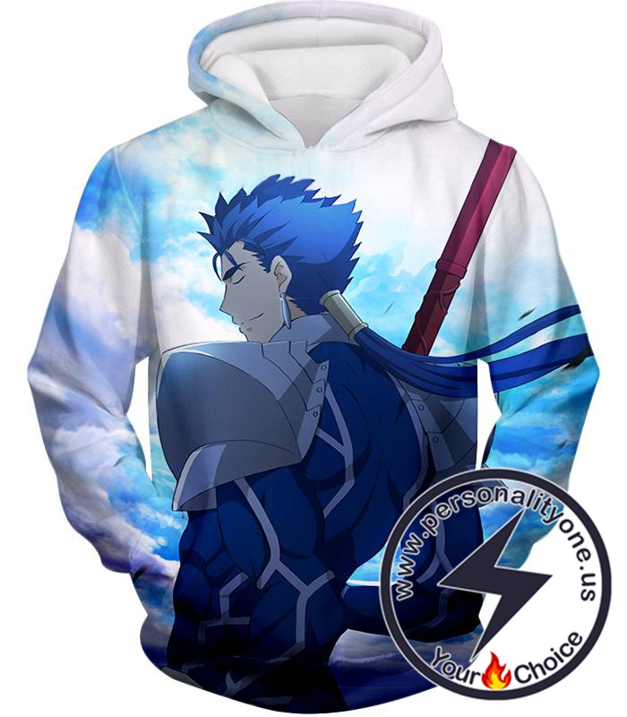 Fate Stay Night Fate Stay Night Lancer Blue Spearman of the Wind Cool Hoodie
