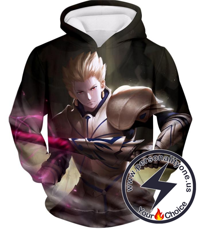 Fate Stay Night Fate Zero Archer Class Hero Gilgamesh Action Hoodie
