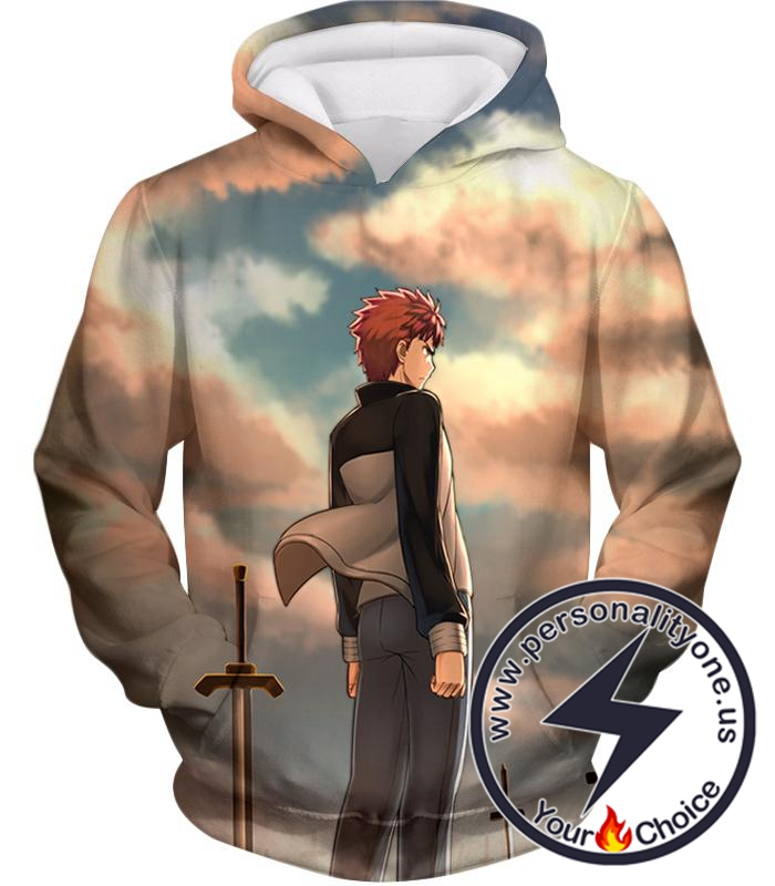 Fate Stay Night Super Cool Hero Shirou Emiya Unlimited Blade Works Hoodie