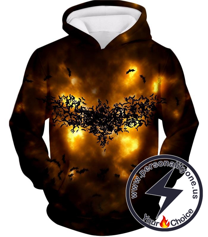 Fearless Hero Symbol Batman Logo Cool Graphic Hoodie