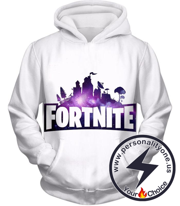 Fortnite Hoodie Battle Royale White Promo