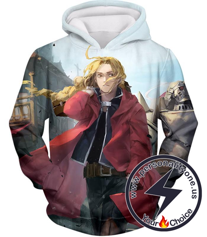 Fullmetal Alchemist Awesome High Definition Art Fullmetal Alchemist Edward Elrich Anime Poster Hoodie