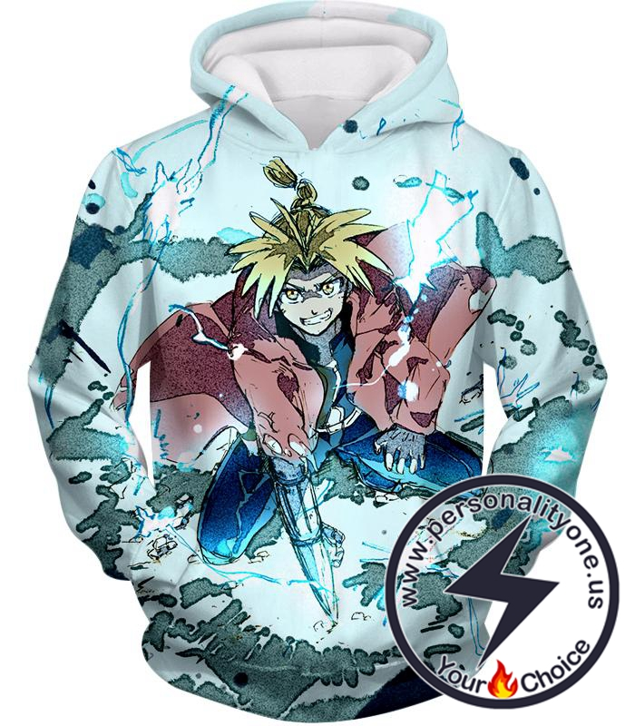 Fullmetal Alchemist Edward Elrich Ultimate Anime Action Cool Graphic Hoodie