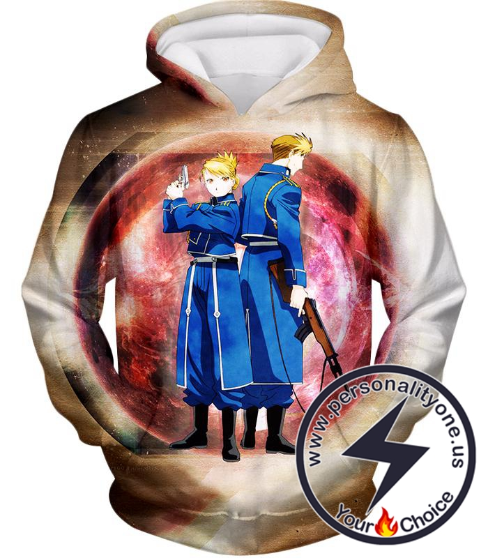 Fullmetal Alchemist Super Cool Military Personnel Riza Hawkeye x Jean Havoc Awesome Anime Hoodie