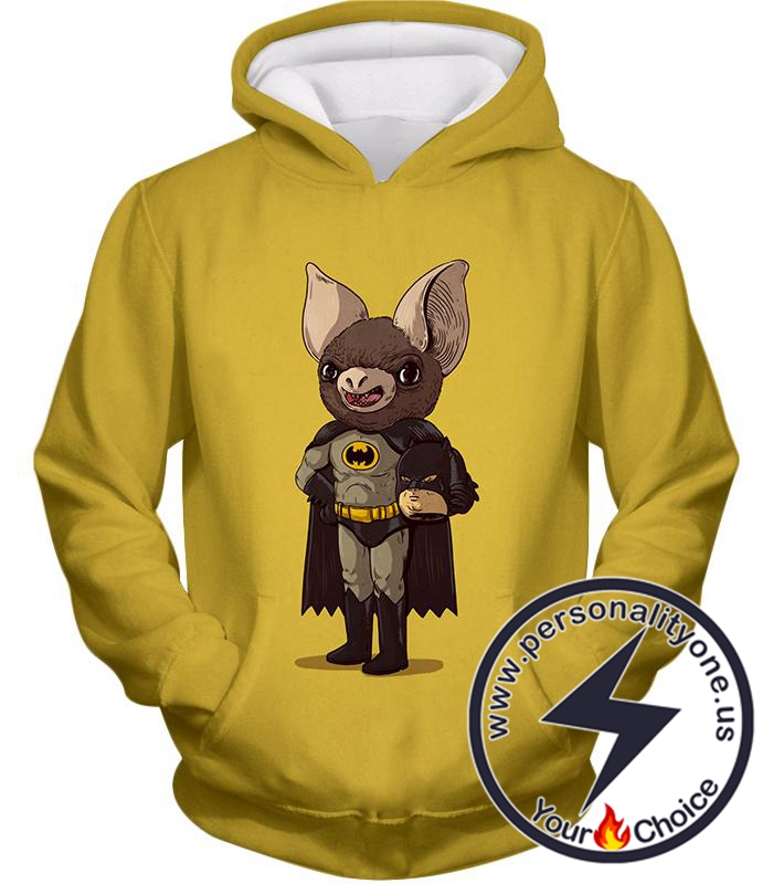Funny Batman Promo Fan Art Yellow Hoodie
