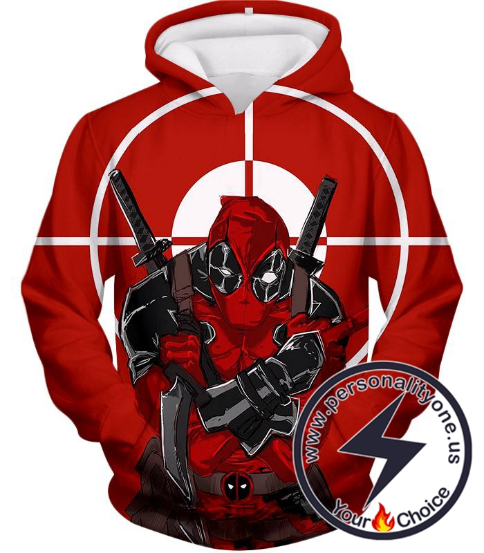 Highly Skilled Warrior Deadpool Red Target Hoodie