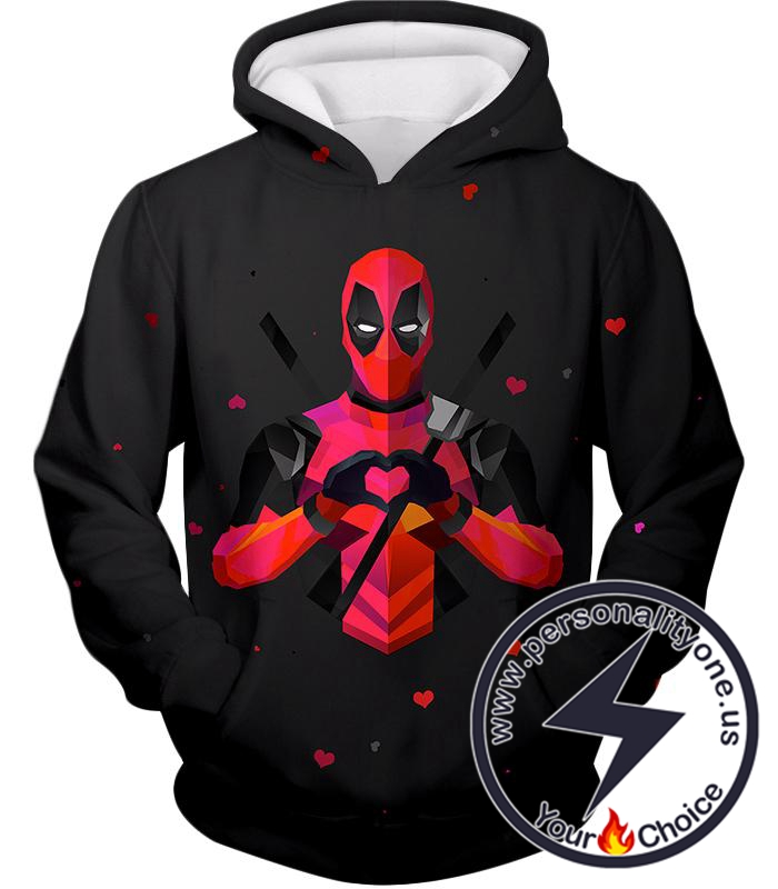 I Heart Deadpool Promo Cool Black Hoodie