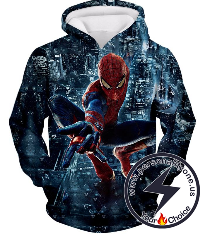 Marvel Hero Web Shooting Spiderman Awesome Action Hoodie