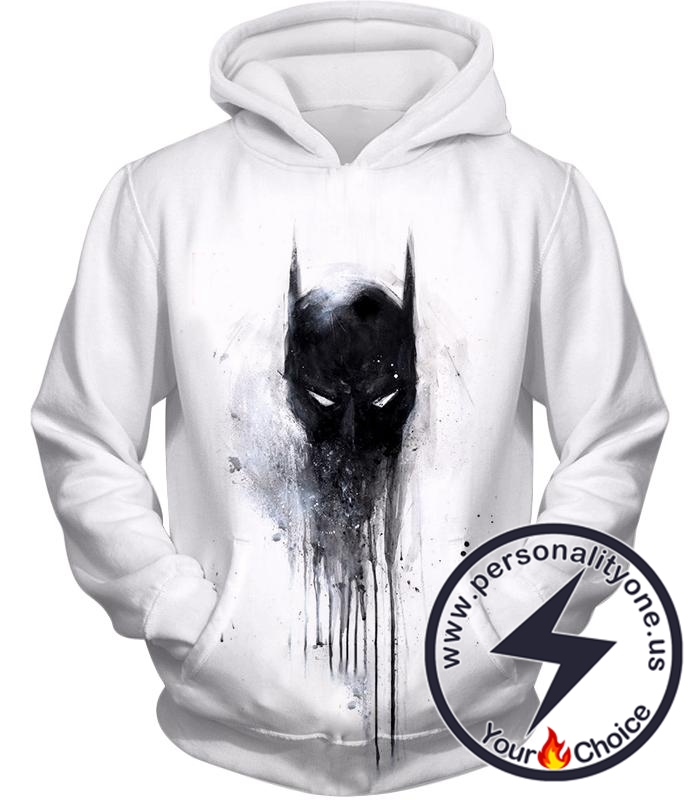 Masked Vigilante Batman Awesome Logo White Hoodie