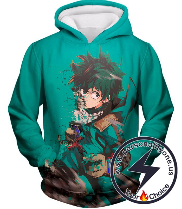 My Hero Academia Awesome Hero Izuki Midoriya Green Fan Hoodie
