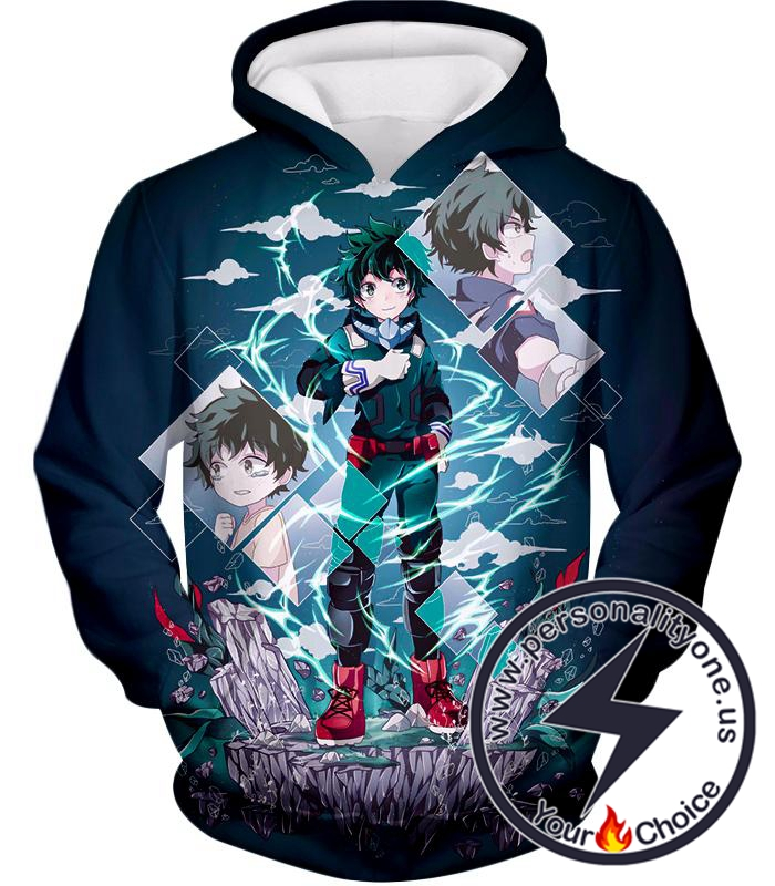 My Hero Academia Chasing the Dreams of Hero Izuki Midoriya Awesome Anime Hoodie