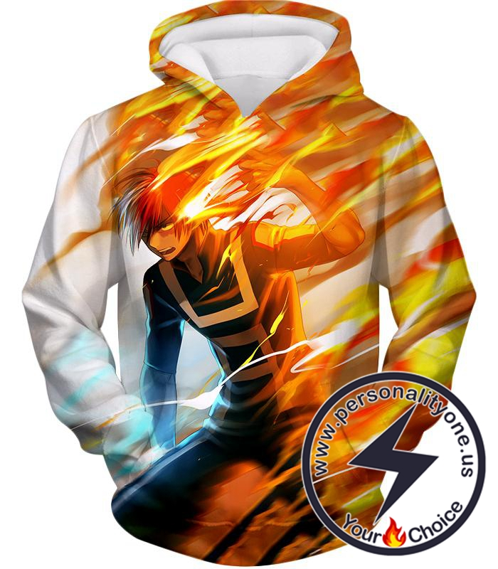 My Hero Academia Half-Cold Half-Hot Quirk Hero Shoto Todoroki Hoodie