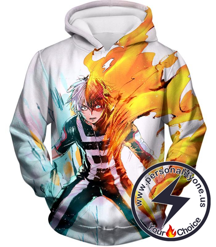 My Hero Academia Half-Cold Half-Hot Shoto Todoroki Hoodie