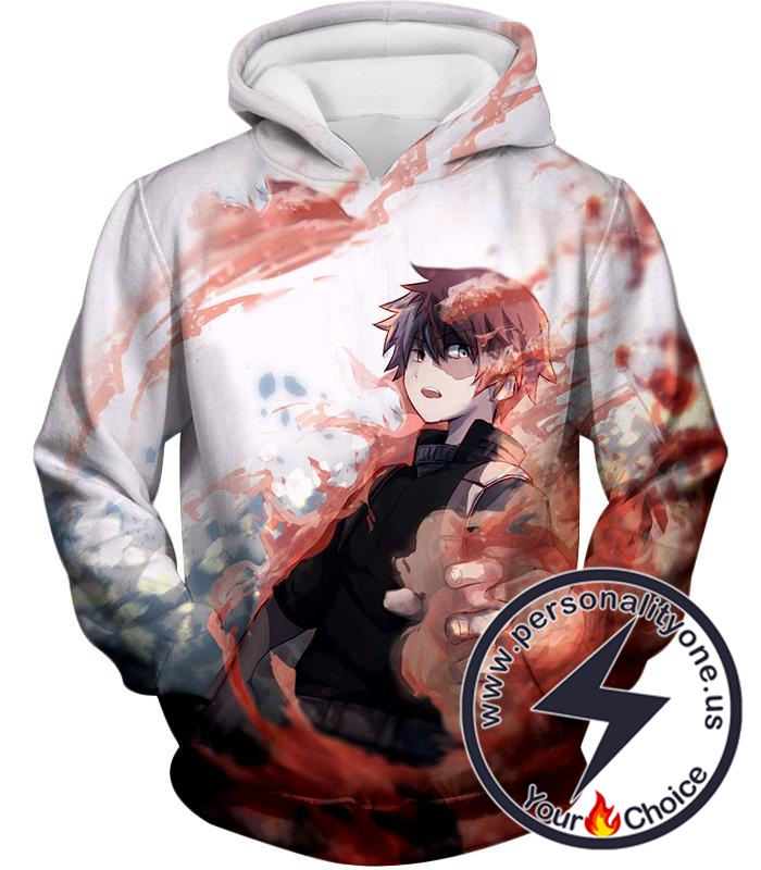 My Hero Academia Ice and Fire Shoto Todoroki Action Hoodie