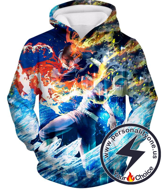 My Hero Academia Incredible Todoroki Shoto Battle Action Ultimate Anime Promo Hoodie