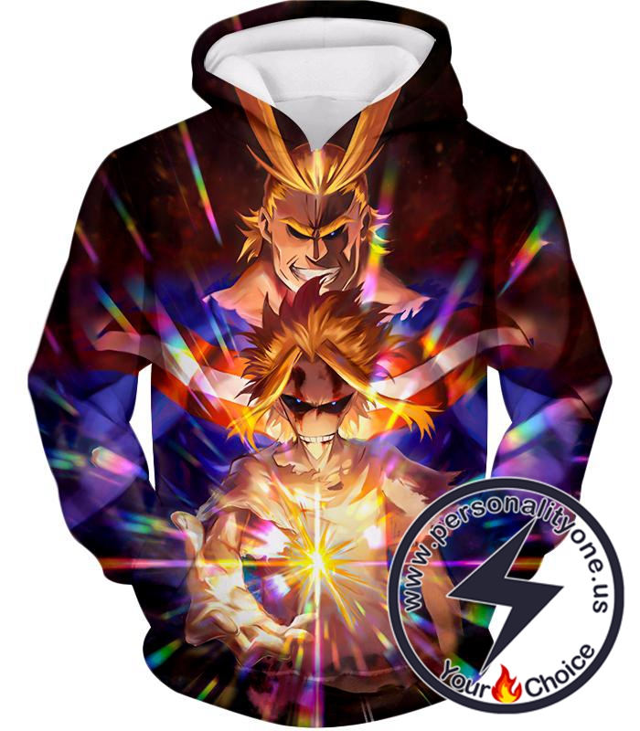 My Hero Academia Number One Hero All Might One for All Holder Cool Anime Graphic Hoodie