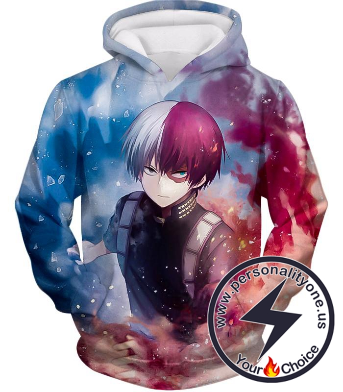 My Hero Academia Super Skilled Half Cold Half Hot Hero Shoto Ultimate Action Hoodie
