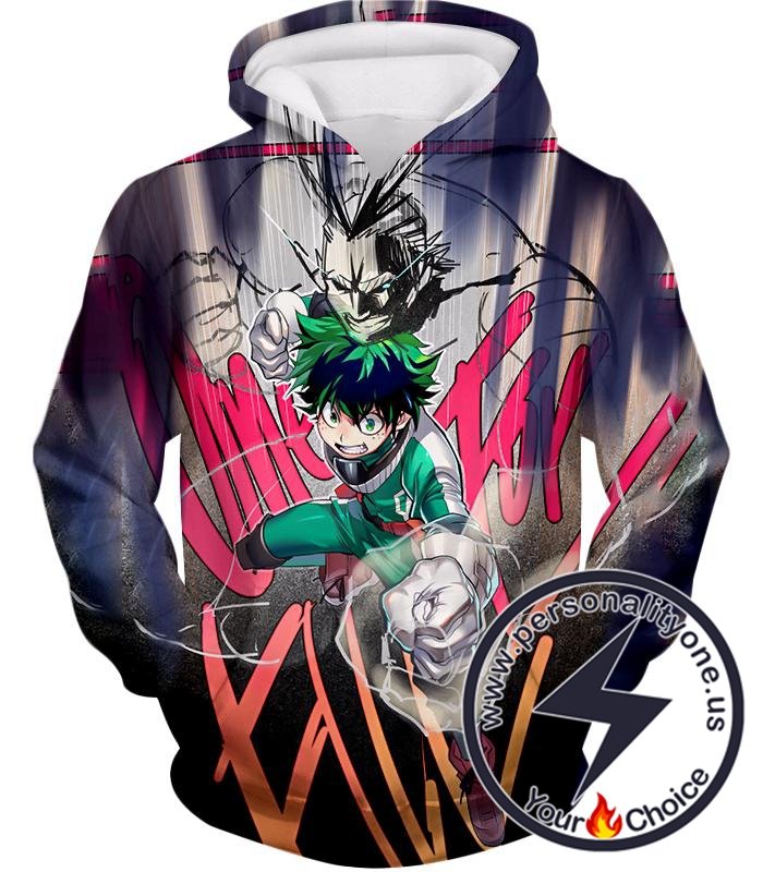My Hero Academia Ultimate Teacher Student Bond Izuki X All Might Cool Graphic Hoodie