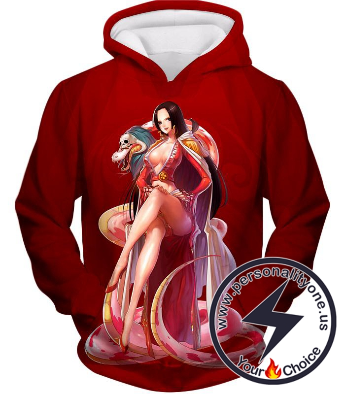 One Piece Beautiful Amazon Lily Queen Boa Hancock Red Hoodie