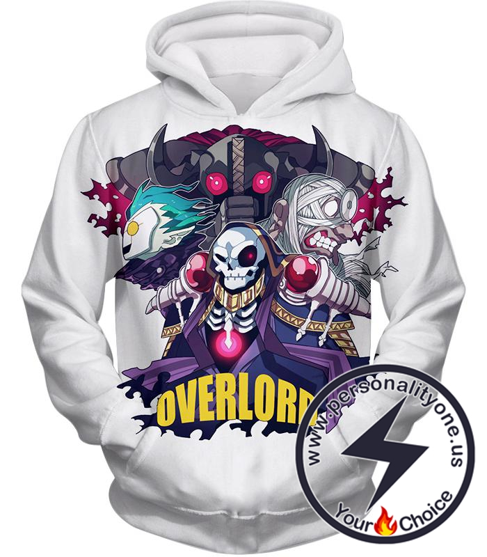 Overlord Awesome Anime Overlord Ultimate Promo White Hoodie