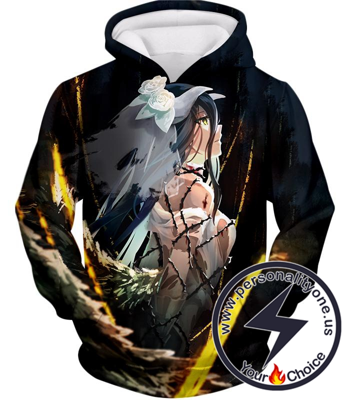 Overlord Beautiful Albedo Cute Bride Avatar Awesome Anime Promo Hoodie