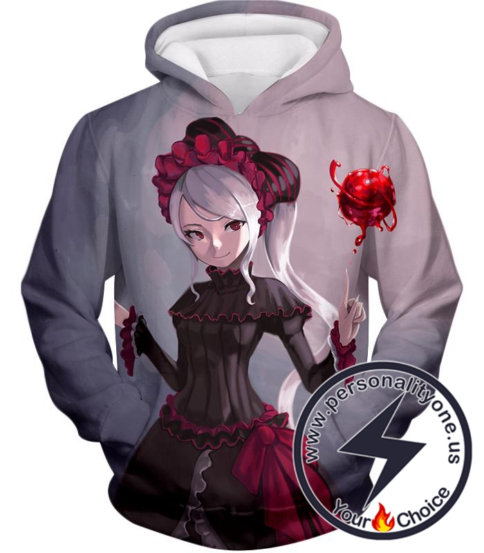 Overlord Blood Loving Vampire Shalltear Bloodfallen Cool White Hoodie