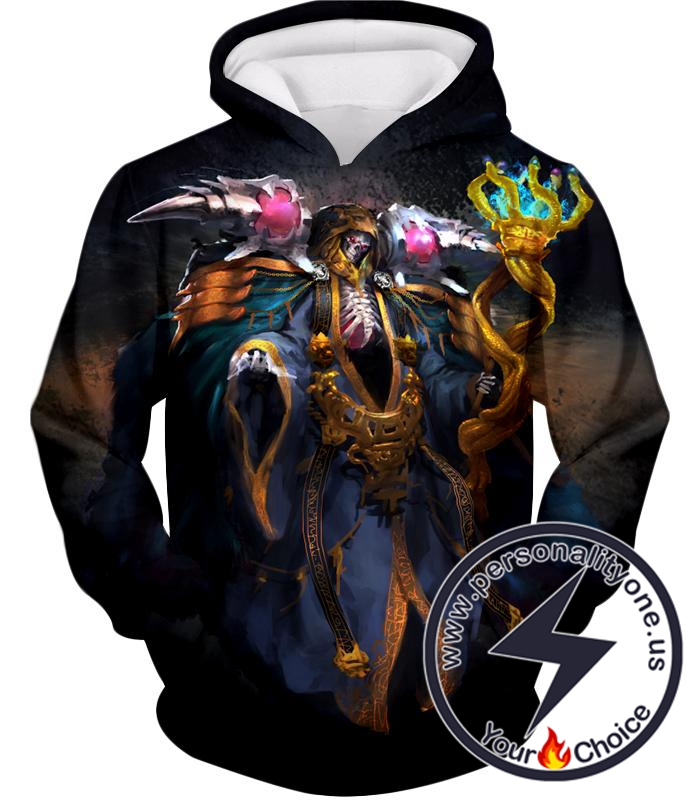 Overlord Extremely Powerful Guild Master Ainz Ooal Gown Cool Graphic Hoodie