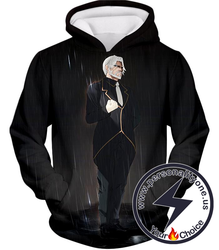 Overlord Highly Powerful Iron Butler Sebas Tian Cool Anime Promo Black Hoodie