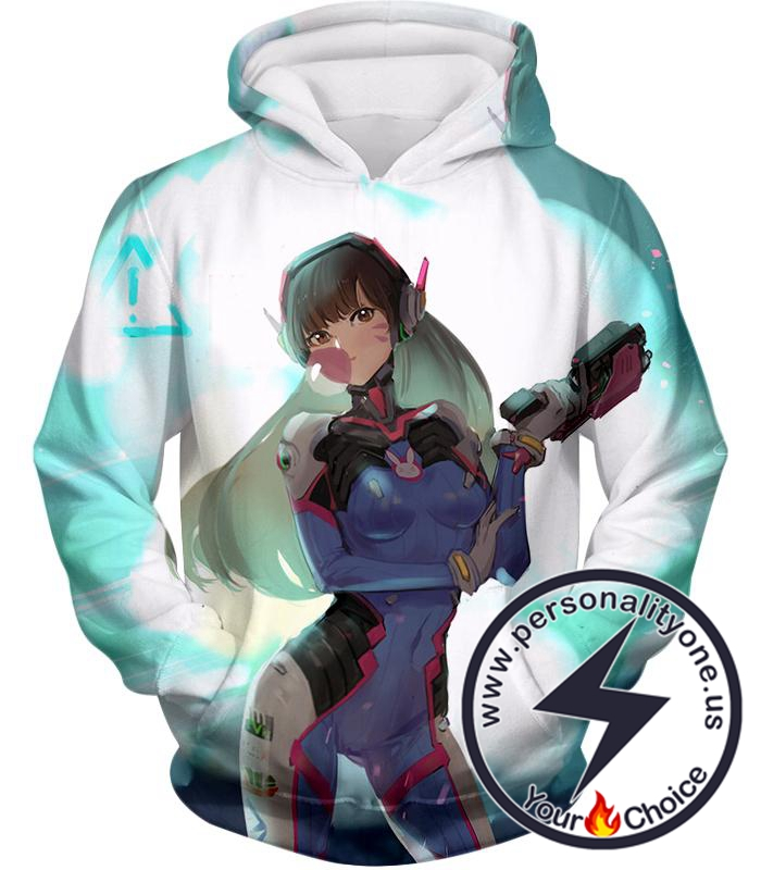 Overwatch Awesome Tank Support D.Va Hoodie