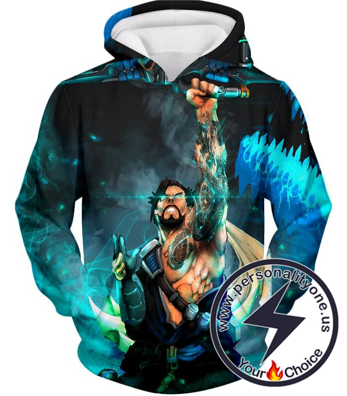 Overwatch Bow Arrow Specialist Fighter Hanzo Hoodie
