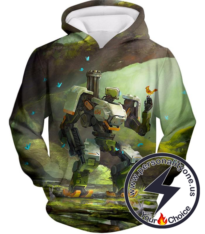 Overwatch Curious Robot Bastion Hoodie