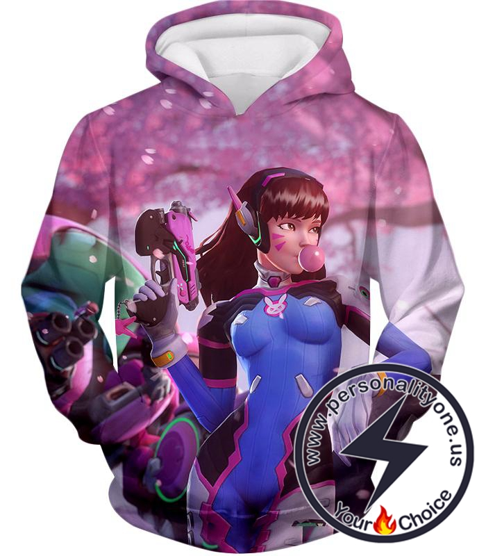 Overwatch Cutest Hero Tank Fighter D.Va Hoodie