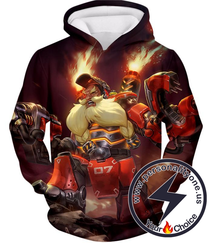 Overwatch Defense Hero Torbjorn Hoodie