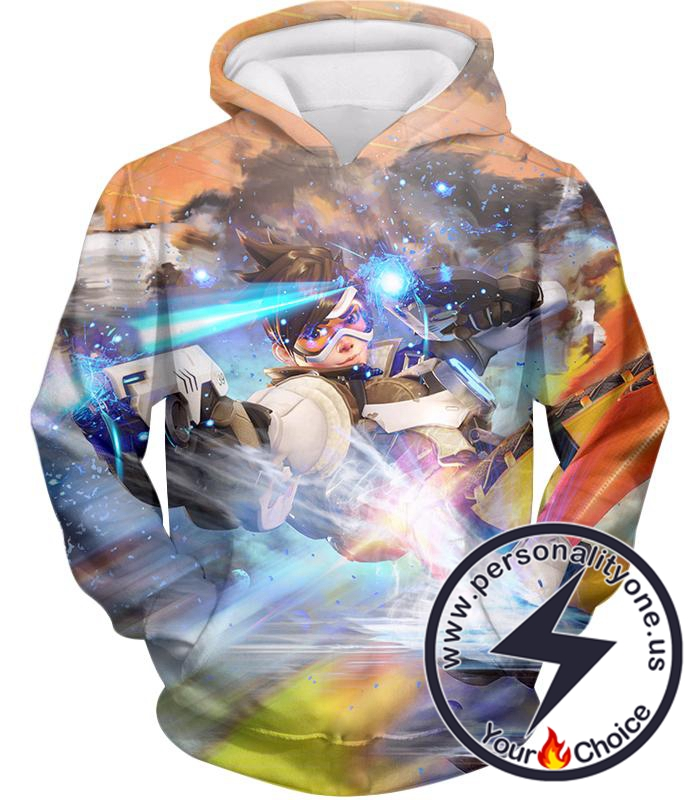 Overwatch Fastest Attack Hero Tracer Hoodie