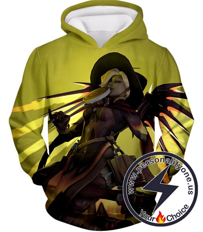 Overwatch Halloween Skins Team Healer Mercy Hoodie