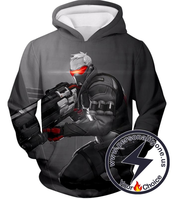 Overwatch Mystery Fighter Soldier:76 Hoodie